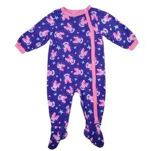 Disney Minnie Mouse Pajamas Purple Pink Fleece 1Pc